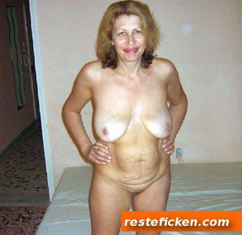 Sperma auf reife Frau